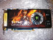 Видеокарта Zotac GeForce 8800 GT 512Mb 256 бит нерабочая.